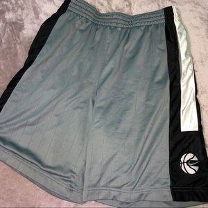 Black and Gray Nike Basketball Shorts